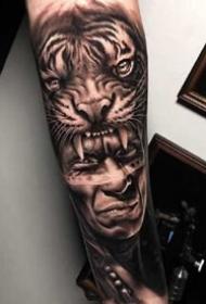 一组比较酷的欧美手臂纹身图案