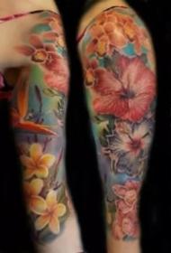 彩色花臂 18款炫彩色的写实等风格大花臂纹身作品