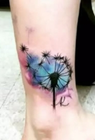 9款飘扬唯美的蒲公英纹身图片