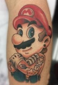 马里奥纹身 9款游戏角色超级玛丽马里奥纹身图案