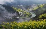安徽石潭油菜花风景图片(10张)