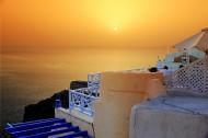 希腊圣托里尼岛日落风景图片(9张)