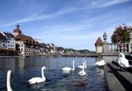瑞士琉森湖风景图片(9张)