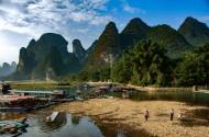 广西桂林兴坪山水风景图片(13张)