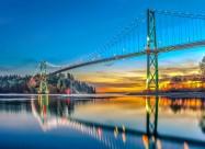 加拿大狮门大桥图片(12张)