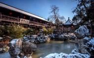 江苏扬州瘦西湖唯美冬日雪景图片(8张)