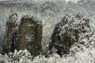 湖南张家界黄狮寨雪景图片(9张)