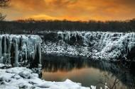 黑龙江镜泊湖冬季风景图片(9张)