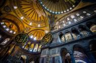 土耳其伊斯坦布尔圣索菲亚教堂建筑风景图片(12张)