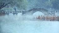 浙江杭州西湖雪景图片(8张)