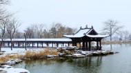 山西太原晋祠公园雪景图片(12张)