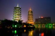 桂林两江四湖日月塔图片(12张)