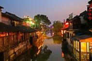 浙江西塘古镇夜色图片(11张)