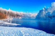 黑龙江库尔滨河的冬天风景图片(15张)