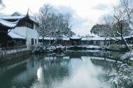江苏苏州拙政园雪景图片(9张)