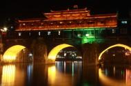 湖南湘西凤凰古城夜景图片(12张)