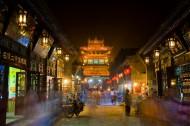 山西平遥古城夜景图片(12张)