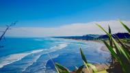 新西兰奥克兰鸟岛黑沙滩风景图片(8张)