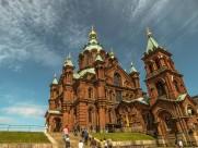 芬兰赫尔辛基乌斯别斯基东正教教堂建筑风景图片(9张)