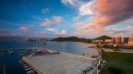 海南三亚鹿回头帆船码头风景图片(8张)