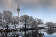 北京玉渊潭雪景图片(9张)