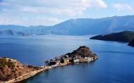 四川泸沽湖唯美风景图片(8张)