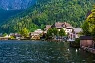奥地利月亮湖小镇哈尔施塔特风景图片(11张)