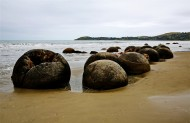 新西兰蓝岛摩拉基大圆石图片(13张)