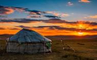 内蒙古贡格尔草原日落晚霞唯美风景图片(9张)