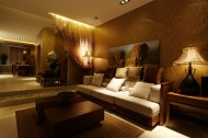 平顶山东南亚风格样板间室内设计图片(12张)