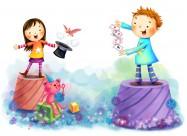 儿童生活卡通矢量图片(50张)