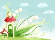 春季背景卡通矢量图片(16张)