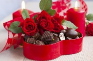 浪漫玫瑰和香浓巧克力图片(17张)