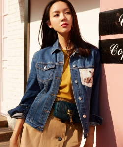 张梓琳时尚率性写真图片