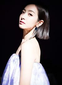 宋茜紫色抹胸吊带裙、小雏菊印花~俏皮灵动,尽显精致