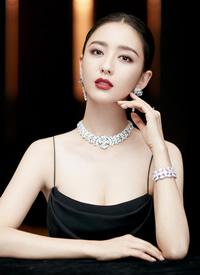 佟丽娅黑色礼服性感写真手机壁纸