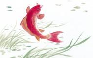 水墨画写意鲤鱼图片(9张)