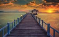 唯美码头景色图片(18张)