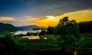 黄昏的田园图片(9张)