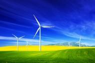 草原上风车图片(8张)