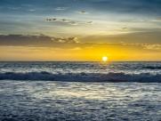 黄昏海滩风景图片(15张)