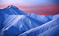 冬季雪山风景图片(9张)