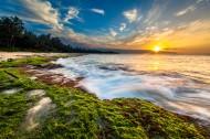 海滩夕阳景色图片(9张)