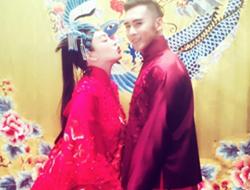 钟丽缇张伦硕拍个性婚纱照