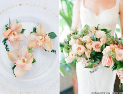 浪漫创意捧花与胸花完美配搭