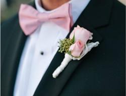 浪漫玫瑰胸花 新郎玫瑰胸花