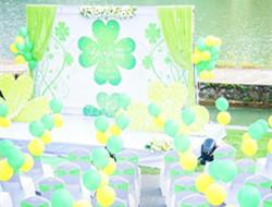 夏日举行一场清新婚礼