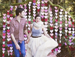 象征幸福元素 爱心主题婚礼
