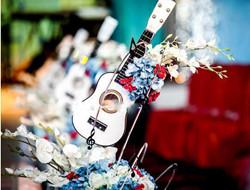 音乐派主题婚礼布置图片