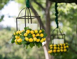 柠檬色明亮清爽婚礼布置